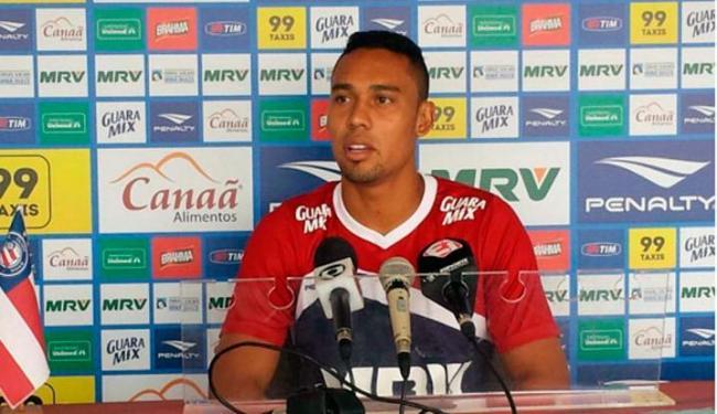 Edigar Junio durante entrevista coletiva no Fazendão - Foto: Reprodução | Esporte Clube Bahia