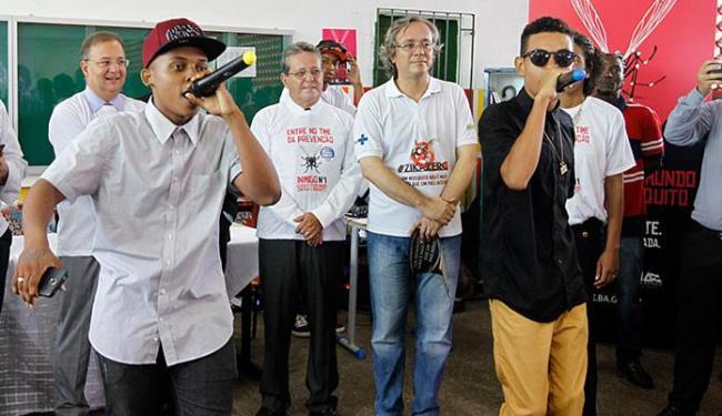 Rap composto por alunos alerta para o risco das doenças causadas pelo mosquito - Foto: Camila Souza l Gov-BA