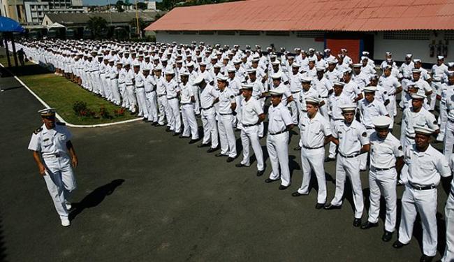 Marinha apresentou tropa que realizará o trabalho - Foto: Mila Cordeiro l Ag. A TARDE