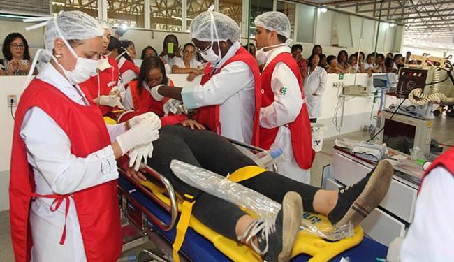 Equipe fez simulação de atendimento, em caso de desastre de grandes proporções, na inauguração - Foto: Alberto Coutinho l (Gov-BA)