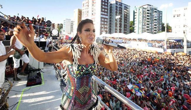 Ivete passou mal na noite desta terça-feira, 9, e foi diagnosticada com quadro de virose - Foto: Raul Spinassé | Ag. A TARDE | 08.02.2016