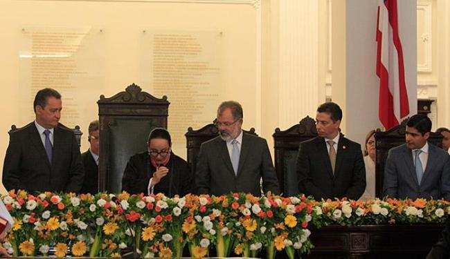 Ao discursar, Maria do Socorro Santiago classificou o atual momento como delicado - Foto: Edilson Lima l Ag. A Tarde