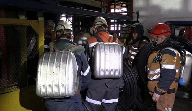 Buscas tentaram salvar os mineiros - Foto: Russian Emergencies Ministry in the Republic of Komi | Agência Reuters