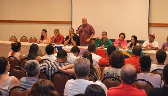 Reunião do diretório contou com lideranças de 35 cidades, deputados federais e estaduais - Foto: Décio Icó | Divulgação