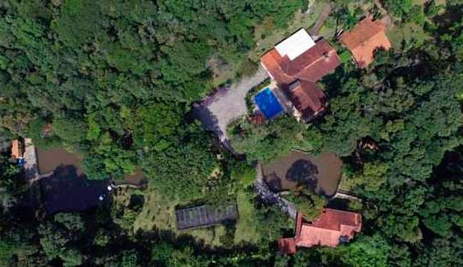 Vista do sítio em Atibaia - Foto: Reprodução | Google Street View