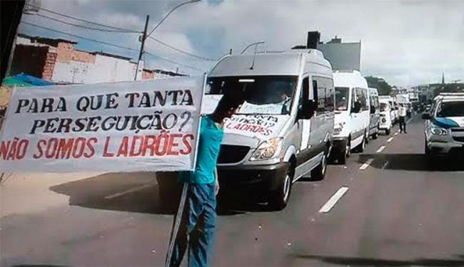 Grupo pede regulamentação de transporte alternativo - Foto: Reprodução | TV Record
