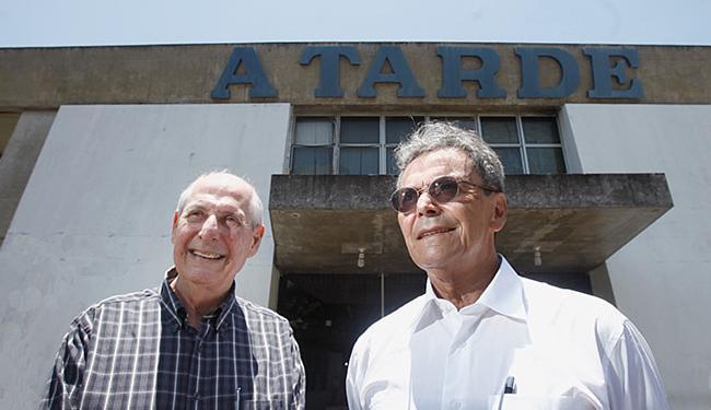 Vilalva e Miranda na sede de A TARDE - Foto: Raul Spinassé l Ag. A TARDE