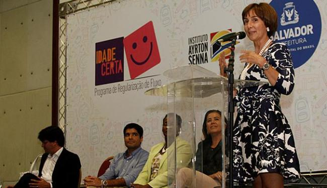 A assinatura do termo contou com a presença da presidente do IAS, Viviane Senna - Foto: Adilton Venegeroles l Ag. A TARDE