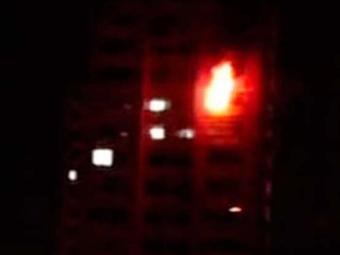 Incêndio atingiu o edifício Antônio, no Parque Júlio César - Foto: Reprodução