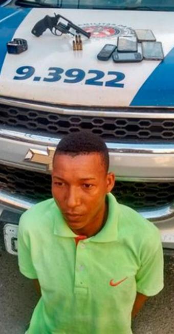 Erivan foi preso no bairro do Imbuí - Foto: Divulgação | PM