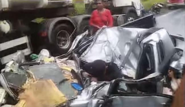 Segundo a PRF, o motorista do Montana teria perdido o controle da direção - Foto: Reprodução
