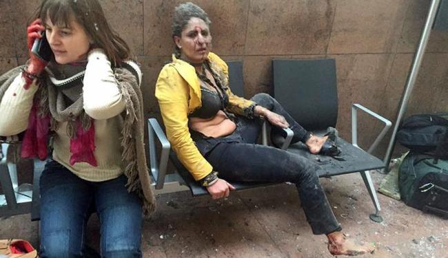 Explosões deixaram mortos e feridos em Bruxelas - Foto: Ketevan Kardava   Georgian Public Broadcaster via AP