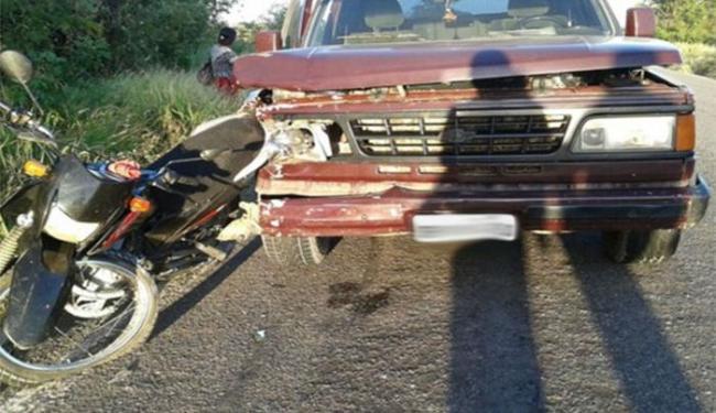 A vítima estava em uma moto Honda Bros e seguia para o trabalho na cidade de Guanambi - Foto: Blog do Braga
