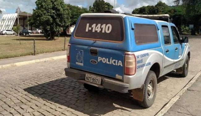 A viatura foi encontrada abandonada em frente ao Terminal Rodoviário de Jacobina - Foto: Augusto Urgente l Augusto Jacobina