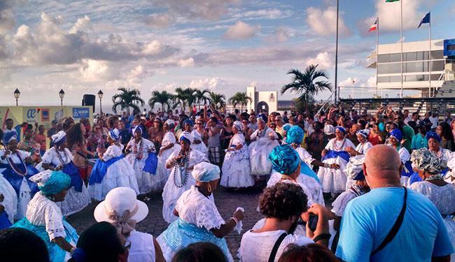 A banda Didá participou da comemoração que aconteceu na tarde desta terça, 29 - Foto: Itana Silva | Ag. A TARDE