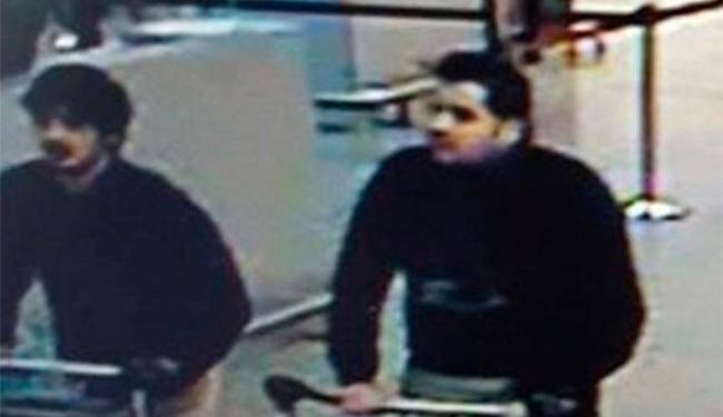 Imagens dos suspeitos gravadas pelas câmeras de segurança do aeroporto - Foto: Reprodução