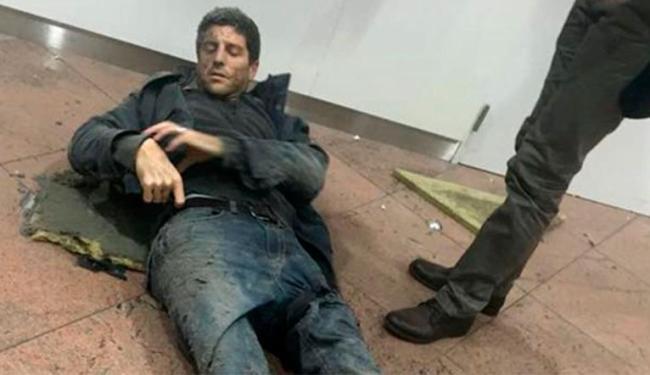 Ex-jogador estava no aeroporto no momento da explosão - Foto: Ketevan Kardava   Georgian Public Broadcaster via AP