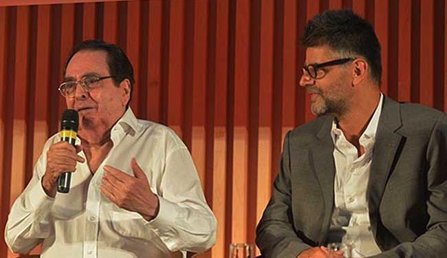 Benedito Ruy Barbosa e o diretor artístico Luiz Fernando Carvalho - Foto: João Miguel Junior | TV Globo