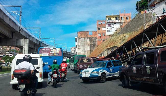 Houve troca de tiros durante a tentativa de assalto - Foto: Giovanna Castro | Ag. A TARDE