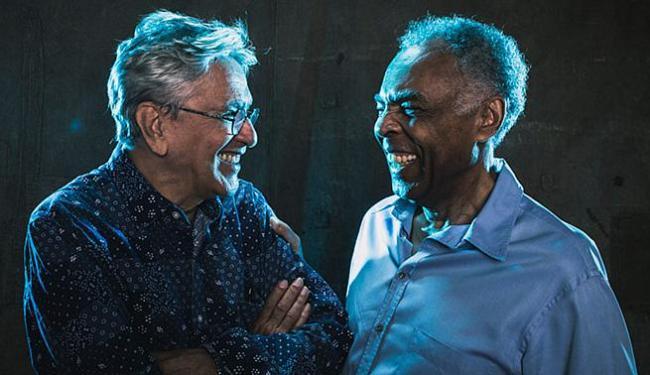 Caetano e Gilberto Gil farão show na Barra no sábado - Foto: Divulgação