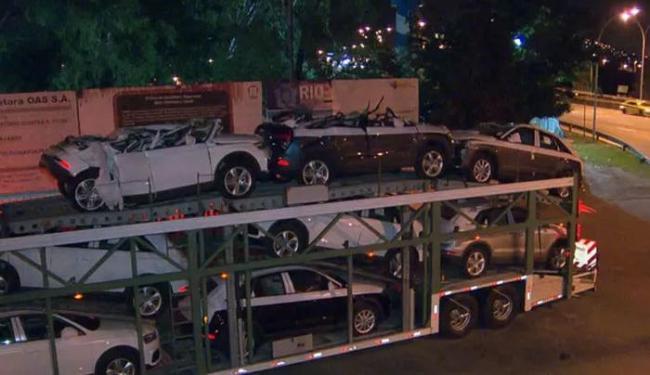 Cada carro está avaliado em R$ 150 mil - Foto: Reprodução   TV Globo
