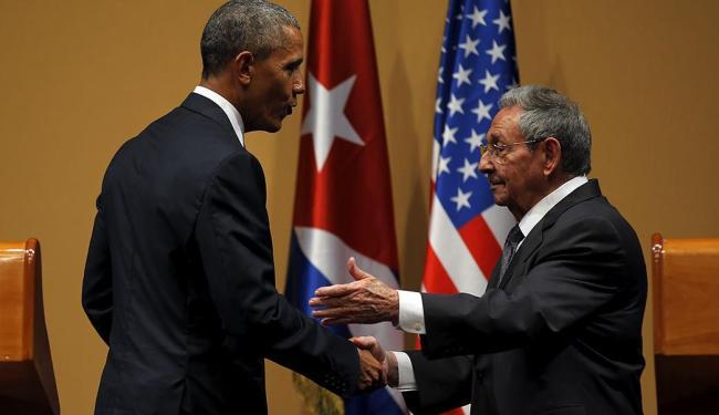 Essa é a primeira visita de um presidente dos EUA a Cuba desde 1928 - Foto: Carlos Barria | Reuters