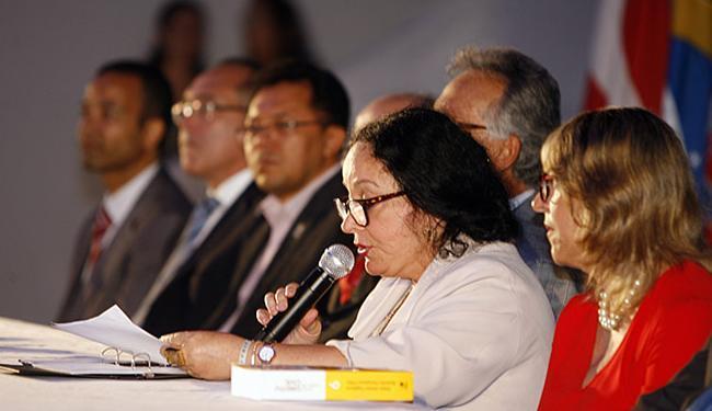 Desembargadora Maria Salomão participou da ação - Foto: Luiz Tito l Ag. A TARDE