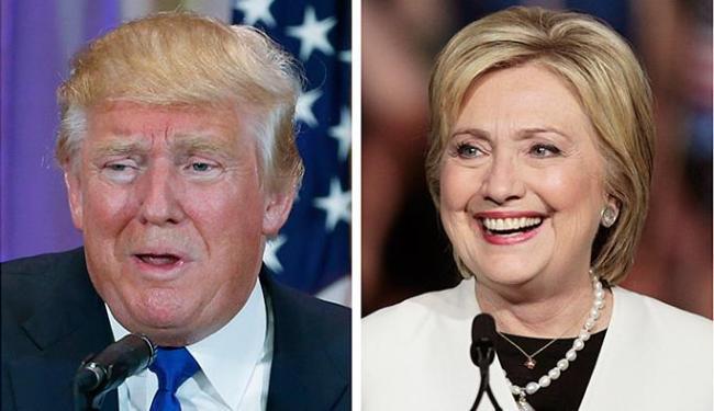 Republicano Trump e a democrata Hillary buscaram fortalecer suas posições de liderança - Foto: Scott Audette e Scott Audette l Reuters