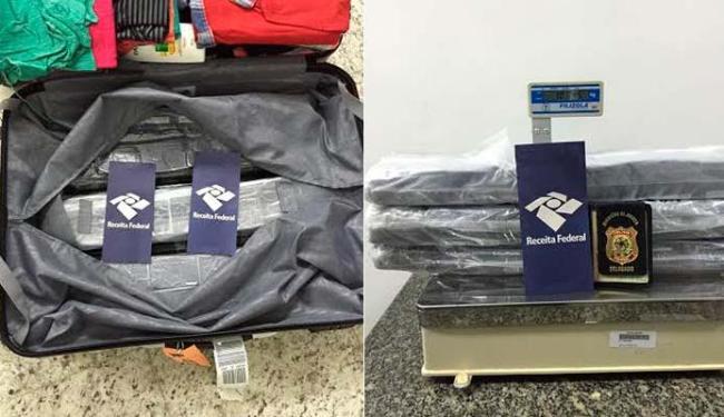 Haxixe estava em fundo falso de mala - Foto: Divulgação | Polícia Federal