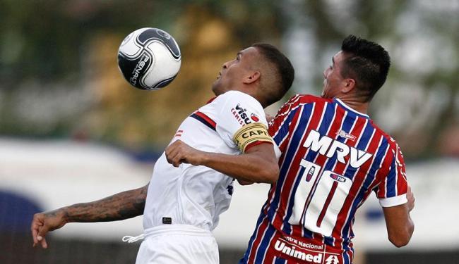 Tricolor da capital fez dois gol diante do Bahia de Feira - Foto: Lúcio Távora | AG. A TARDE