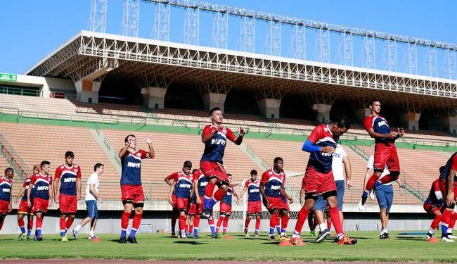 Elenco do Esquadrão realizou o último treino antes de enfrentar o Tremendão - Foto: Felipe Oliveira | Divulgação | EC Bahia
