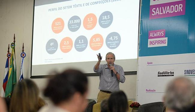 O evento, realizado na Fieb, apresentou o panorama e perspectivas do setor têxtil e de confecções - Foto: Ângelo Pontes l Coperphoto l Sistema Fieb