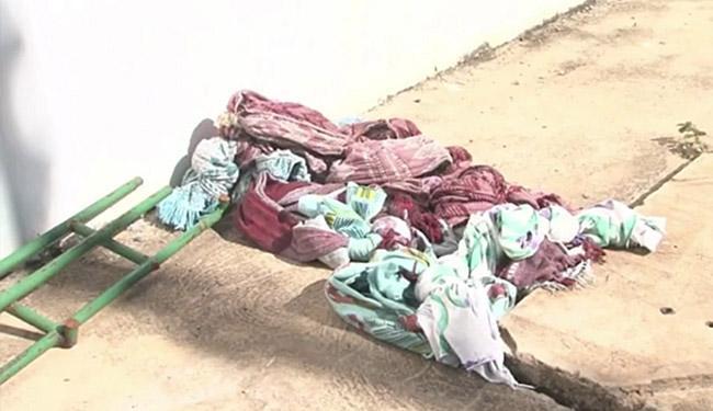 Os presos usaram uma corda feita com lençóis para escapar - Foto: Reprodução l TV Bahia