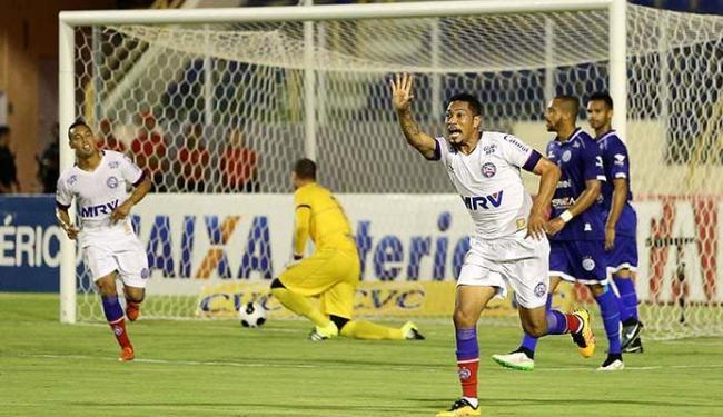 Hernane comemora o primeiro gol da noite contra o Confiança - Foto: Jorge Henrique | Futura Press