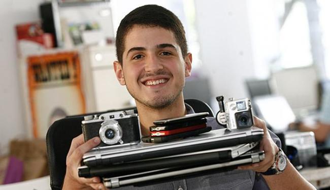 Iago Vieira é presidente do site Talugo, que permite aos usuários alugar eletrônicos - Foto: Mila Cordeiro l Ag. A TARDE