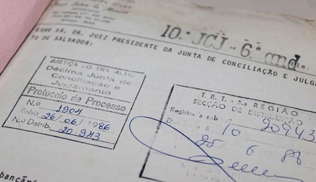 O processo foi ajuizado em 25 de junho de 1986, pela 10ª Vara de Salvador - Foto: Divulgação | TRT-Ba