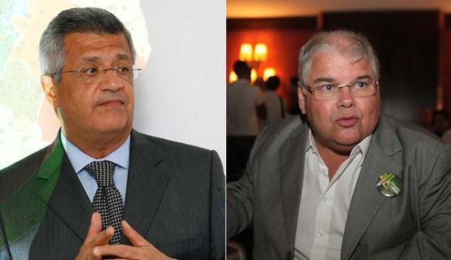 João Carlos Bacelar (PTN) é contra o impeachment; Lúcio Vieira Lima (PMDB), a favor - Foto: Marco Aurélio Martins - Edilson Lima | Ag. A TARDE