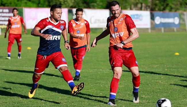 Lucas Fonseca já vem treinando com bola; atleta jogou pela última vez em outubro, na China - Foto: Felipe Oliveira l EC Bahia