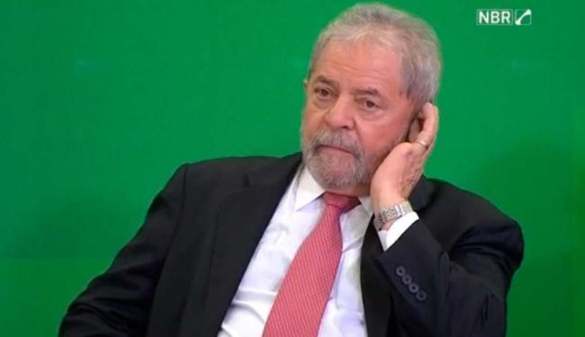Lula durante posse como ministro da Casa Civil do governo Dilma Rousseff - Foto: Reprodução
