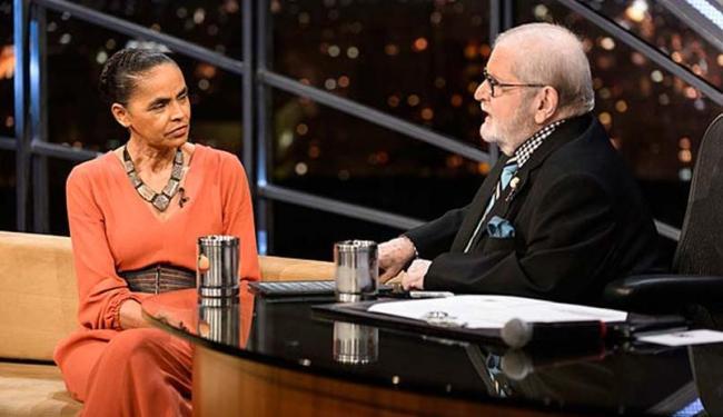 Marina Silva foi entrevistada por Jô Soares na madrugada desta terça-feira - Foto: Divulgação   TV Globo