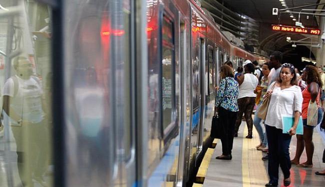 Devido aos testes e obras de expansão dos novos trens, metrô altera funcionamento - Foto: Joa Souza l Ag. A TARDE