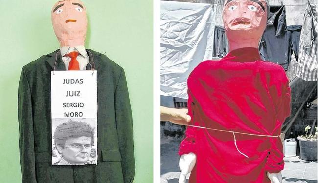 Moro é o Judas da vez em Pirajá. Já na rua Graciete Leal, no bairro Pau Miúdo, escolheram Lula - Foto: Fábio Ferreira | Divulgação