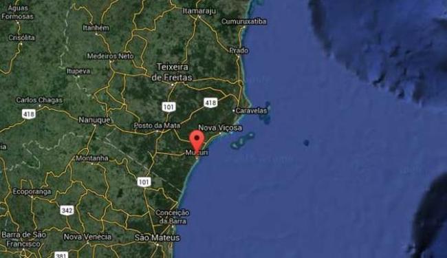 Veleiro estava na altura do município de Mucuri - Foto: Reprodução | Google Maps