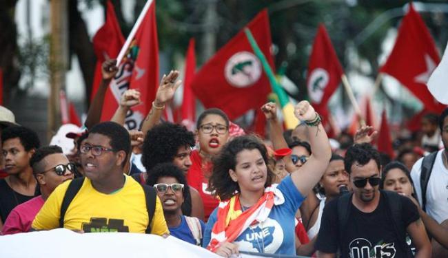 Partidos de esquerda como o PSTU e PCB não participaram dos atos pró-governo - Foto: Lúcio Távora | Ag. A TARDE