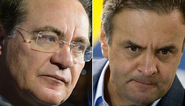 Renan e Aécio querem unir forças do PMDB e PSDB - Foto: Agência Brasil e AP