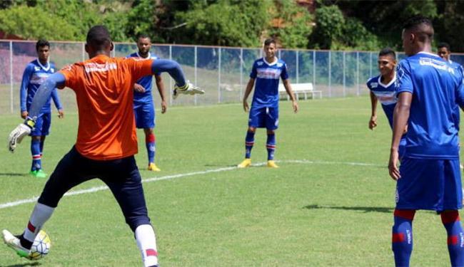 Para tentar amenizar o revés no Ba-Vi, o elenco tricolor busca um triunfo na estreia da Copa do Bras - Foto: Felipe Oliveira l EC Bahia