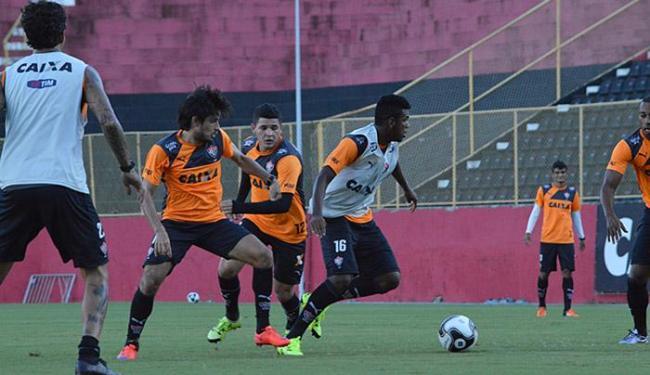 Mancini decidiu manter o time que iniciou e venceu o Ba-Vi do último domingo - Foto: Francisco Galvão l EC Vitória