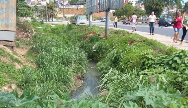 Acúmulo de água em vala é decorrente de chuvas - Foto: Alan Costa | Cidadão Repórter