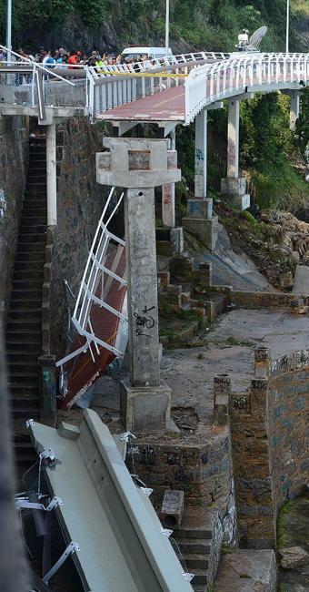 Equipamento desabou durante uma ressaca no mar de São Conrado - Foto: Fernando Frazão l Agência Brasil