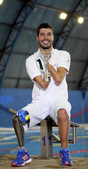 Daniel ganhou sete ouros no Mundial Paralímpico de natação - Foto: Friedemann Vogel l Getty Images for Laureus